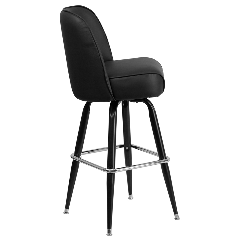 Metal Barstool With Swivel Bucket Seat Bfdh 26781 Stool By T D Restaurant Equipment Bizchair