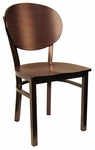 Metal Chair with Round Back and Veneer Seat [6185-HND]