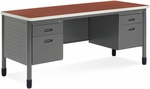 Mesa 26.75'' D x 67'' W Double Pedestal Credenza - Cherry [66266-CHY-FS-MFO]