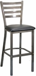 Metal Ladder Back Barstool with Clear Coat [6144B-HND]