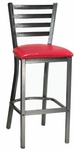 Metal Ladder Back Barstool with Silver Vein Finish [6147B-HND]