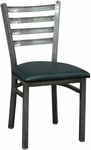 Metal Ladder Back Chair with Clear Coat [6144-HND]