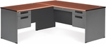 Executive L-Shaped Panel End Desk with Left Pedestal Return - Cherry [77366-L-CHY-MFO]