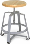 Endure Small Stool with Gray Legs - Maple Seat [921-MPL-FS-MFO]