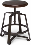 Endure Small Stool with Dark Vein Legs - Walnut Seat [921-WNT-FS-MFO]