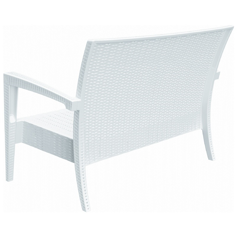 Miami Resin Loveseat White Isp845 Wh By Compamia