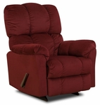 Michigan Transitional Style Polyester Recliner - Top Hat Berry [189320-4170-FS-CHEL]