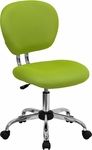 Mid-Back Apple Green Mesh Swivel Task Chair with Chrome Base [H-2376-F-GN-GG]