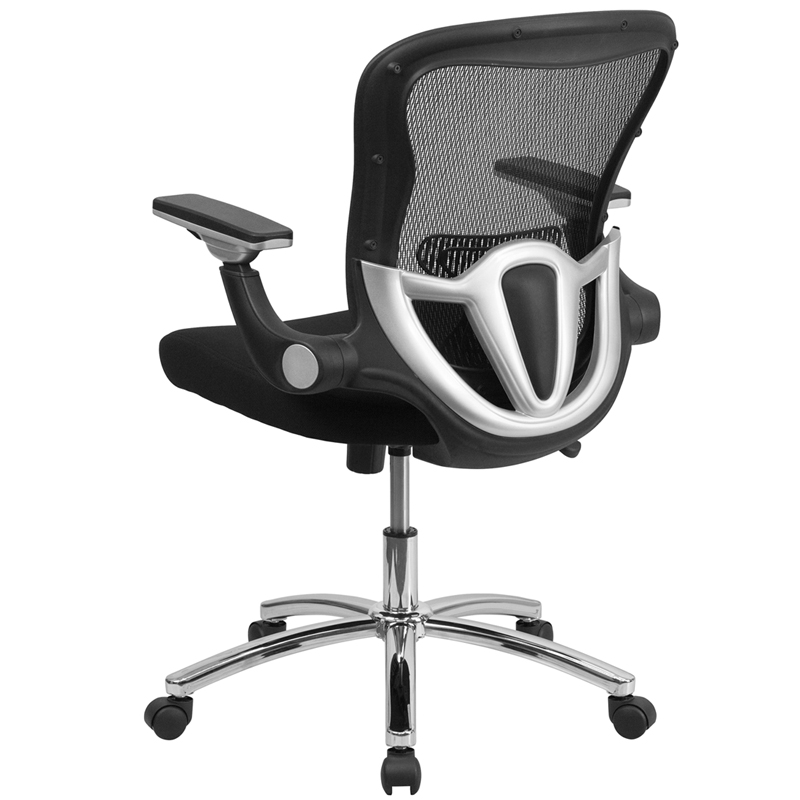 mid-back black mesh executive swivel chair with height adjustable