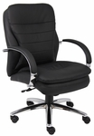Mid Back CaressoftPlus&#8482 Executive Chair with Padded Arms - Black [B9226-FS-BOSS]