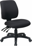 Work Smart Mid Back Dual Function Ergonomic Chair with Ratchet Back Height Adjustment - Black [33320-30-FS-OS]