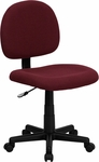 Low Back Burgundy Fabric Swivel Task Chair [BT-660-BY-GG]