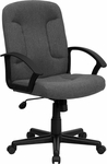 Mid-Back Gray Fabric Executive Swivel Chair with Nylon Arms [GO-ST-6-GY-GG]
