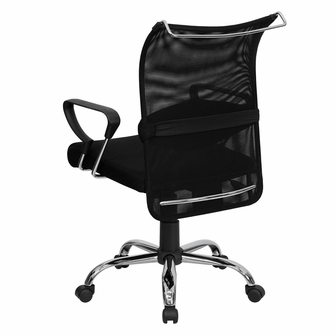 Mid Back Black Mesh Swivel Manager 39 S Chair With Adjustable Lumbar Support
