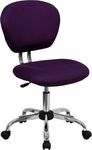 Mid-Back Purple Mesh Swivel Task Chair with Chrome Base [H-2376-F-PUR-GG]