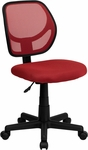 Mid-Back Red Mesh Swivel Task Chair [WA-3074-RD-GG]