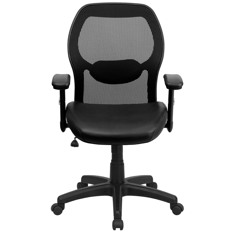 Mid Back Office Chair Leather Mainstays Mid Back Leather Office