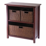 Milan 2-Tier Wide Shelf with 3 Baskets [94238-FS-WWT]