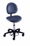 Millennium Series - Foot Operated Surgeon Stool with Back [21340B-FS-BRW]