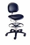 Millennium Series - Laboratory Stool with Casters [21521B-FS-BRW]
