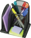 Onyx™ 6'' W x 5.25'' H Mini Steel Mesh Organizer - Set of Six - Black [3250BL-FS-SAF]