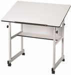 MiniMaster White Top Drawing Table - 36''W X 24''D [MM36-5-FS-ALV]