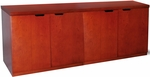Mira 72'' W x 20'' D x 29.38'' H Hinged Four Door Credenza - Medium Cherry [MHDC2072MC-FS-MAY]