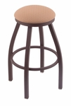 Misha 25'' Bronze Finish Swivel Counter Height Stool with Gr 1 Axis Summer Fabric Seat [80225BZAXSSUM-FS-HOB]