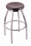 Misha 30'' Chrome Finish Swivel Barstool with Dark Cherry Maple Wood Seat [80230CHDCMPL-FS-HOB]