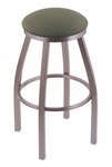 Misha 30'' Stainless Steel Finish Swivel Barstool with Gr 1 Axis Grove Fabric Seat [80230SSAXSGRV-FS-HOB]