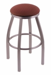 Misha 30'' Stainless Steel Finish Swivel Barstool with Gr 1 Axis Paprika Fabric Seat [80230SSAXSPAP-FS-HOB]