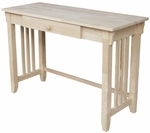 Mission Solid Parawood 45''W X 30''H Home Office Desk with Drawer - Unfinished [OF-921263-FS-WHT]