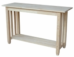 Mission Solid Parawood 48''W X 30''H Sofa Table - Unfinished [BJ6S-FS-WHT]