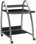 Mobile Arch Computer Desk with Bottom Printer Shelf - Anthracite [971ANT-FS-MAY]