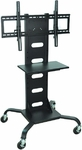 Mobile Flat Panel Stand with Shelf [WPSMS51-FS-HW]