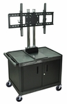 Universal 45''H LCD TV Mount Mobile Cart with Cabinet [WPTV28C2E-FS-HW]
