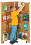 Mobile Library Bookcase - 2 Sections [2671JC-JON]