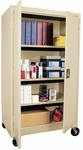 Transport Series 36'' W x 24'' D x 66'' H Mobile Storage with Four Adjustable Shelves - Putty [TA3R-362460-07-EEL]