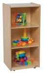 Mobile Mini Bookshelf with Three Shelves and Easy Mobility Casters - Assembled - 18''W x 15''D x 38''H [15700-WDD]