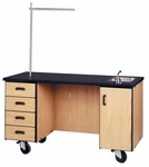 Mobile Science Demonstration Station w/Open Knee Space [4095-IRO]