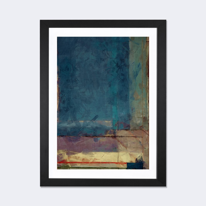 Modern art ocean view window by 5by5collective artwork for 16 x 24 window