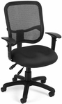 Mesh Comfort Ergonomic Task Chair with Arms - Black [130-AA3-A05-FS-MFO]