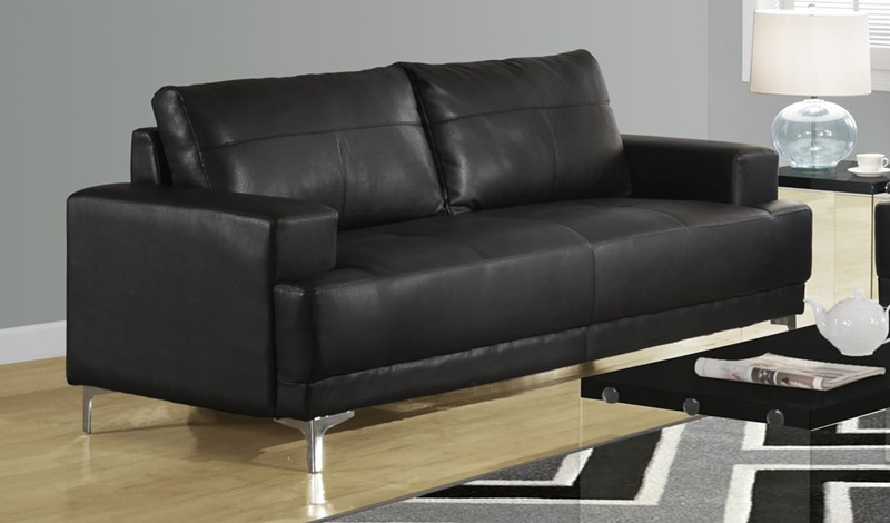 modern design bonded leather match sofa with removable