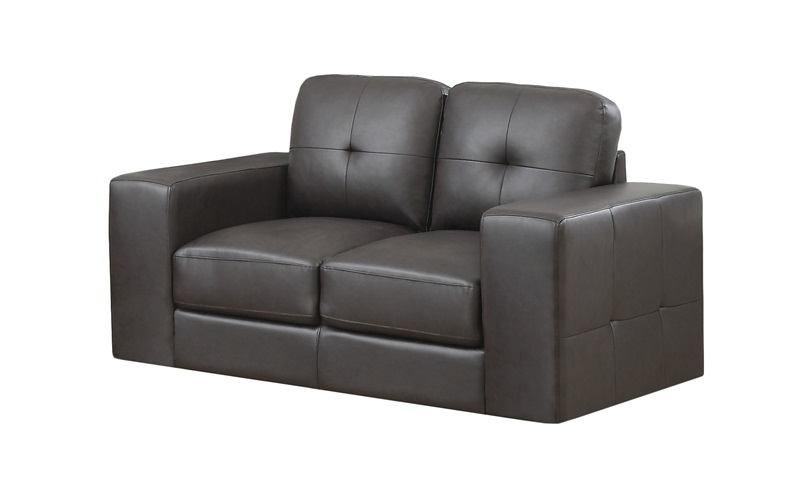 modern design bonded leather match tufted loveseat with