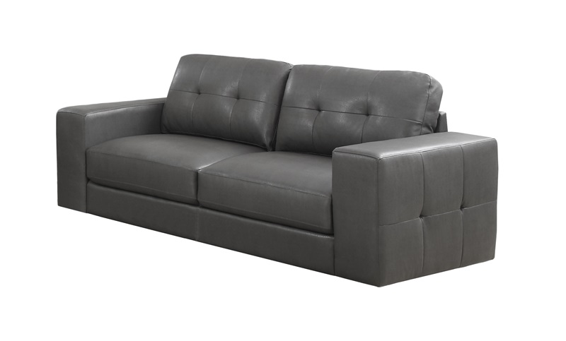 modern design bonded leather match tufted sofa with