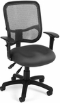 Mesh Comfort Ergonomic Task Chair with Arms - Gray [130-AA3-A01-FS-MFO]