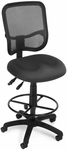 Mesh Comfort Ergonomic Task Chair with Drafting Kit - Gray [130-DK-A01-FS-MFO]
