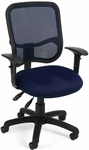 Mesh Comfort Ergonomic Task Chair with Arms - Navy [130-AA3-A04-FS-MFO]