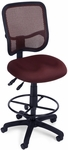 Mesh Comfort Ergonomic Task Chair with Drafting Kit - Wine [130-DK-A03-FS-MFO]