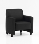 Monaco Contemporary Side Chair - Black Simulated Leather [CD001105B5000-FS-DMI]
